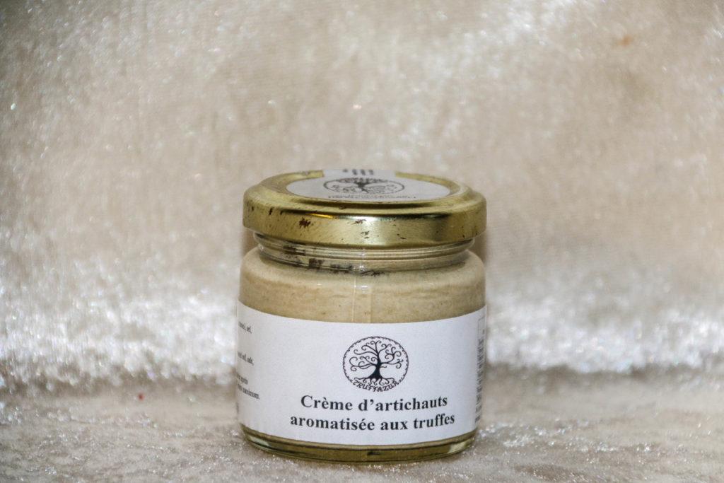Crème d'artichaut aromatisée aux truffes